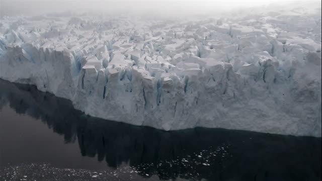 close-up fog forming over glacier in antarctic sea/ antarctica - crevasse stock videos & royalty-free footage