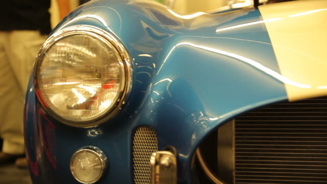 closeup front light car. - collector's car stock videos & royalty-free footage