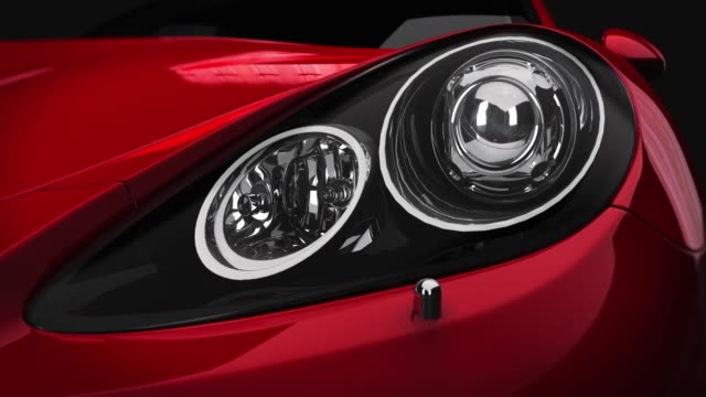 closeup front light car. - bonnet stock videos & royalty-free footage