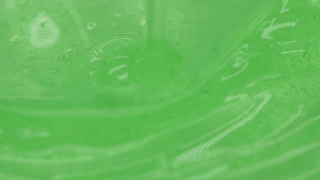 close-up green aloe gel - cream stock videos & royalty-free footage
