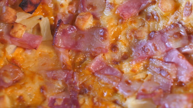 close-up ham cheese pizza stock video - hearth oven stock videos & royalty-free footage
