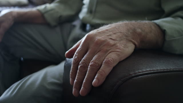 close-up, hand of a senor man - the ageing process stock videos & royalty-free footage