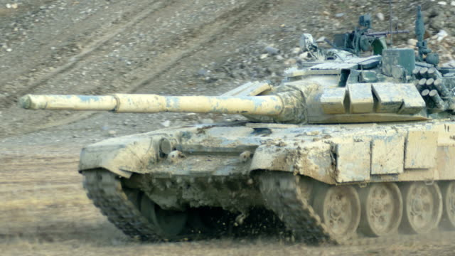 close-up -  heavy tank at full speed - military land vehicle stock videos & royalty-free footage