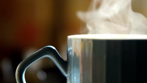 close-up hot cup with steam - morning stock videos & royalty-free footage