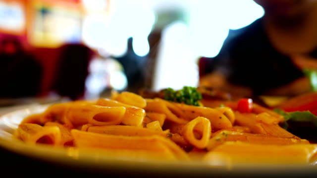 close-up hot italian pasta - italian culture stock videos & royalty-free footage