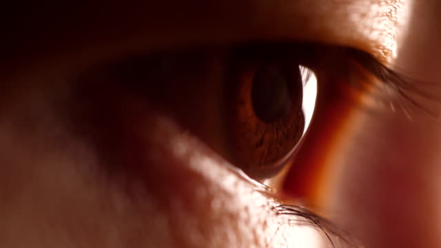 close-up human eye - blinking stock videos & royalty-free footage