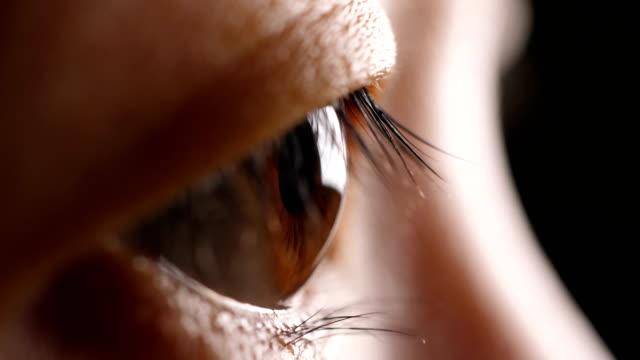 stockvideo's en b-roll-footage met close-up menselijk oog - netvlies