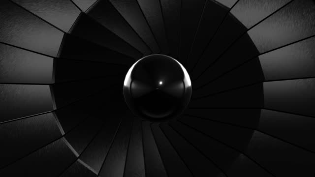 close-up jet turbine (loopable) - jet engine stock videos & royalty-free footage