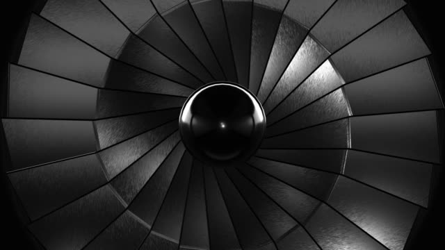 close-up jet turbine (loopable) - spiral stock videos & royalty-free footage