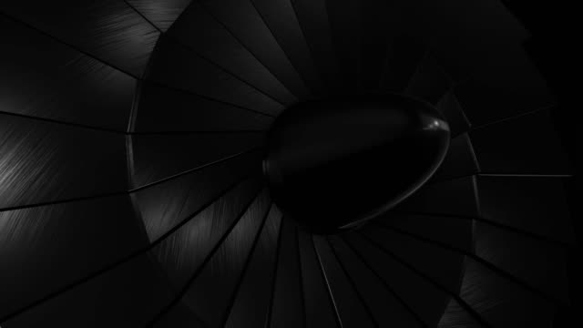nahaufnahme jet turbine (loopable) - turbine stock-videos und b-roll-filmmaterial