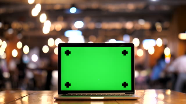 close-up laptop with green screen - male likeness stock videos & royalty-free footage