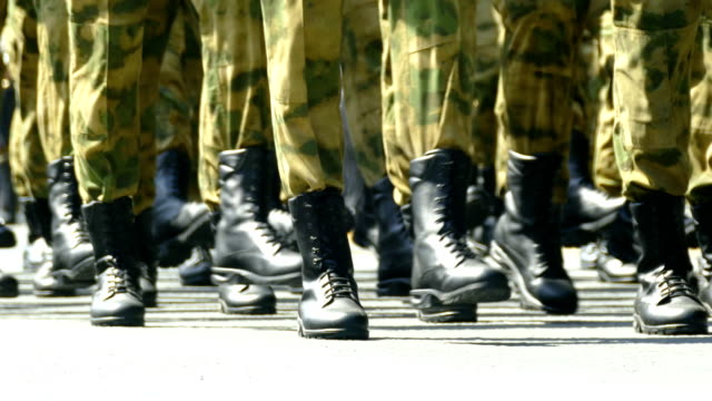 close-up - military marching - military parade stock videos & royalty-free footage