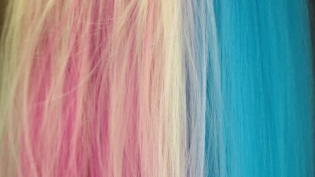 close-up multi colored hair texture - black hairy women stock videos & royalty-free footage