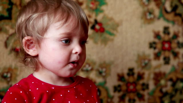 close-up of a baby asking for food - ordering stock videos and b-roll footage
