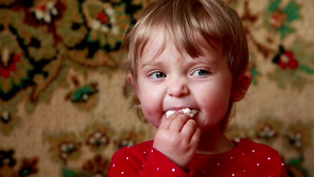 close-up of a baby spitting out untasty food - human head stock videos & royalty-free footage