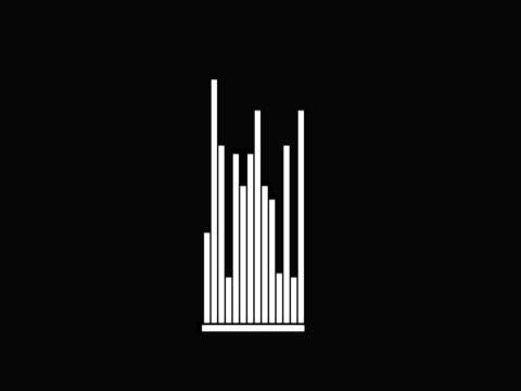 vídeos y material grabado en eventos de stock de close-up of a bar chart on a black background - diagrama de línea