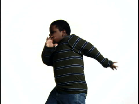 Close-up of a boy dancing