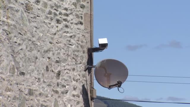 closeup of a cctv camera - close up stock videos & royalty-free footage