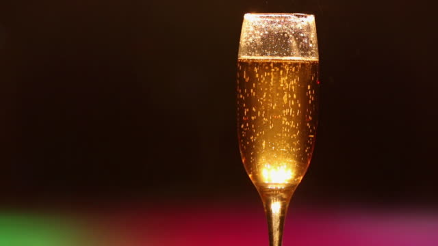 close-up of a champagne glass - champagne flute stock videos and b-roll footage