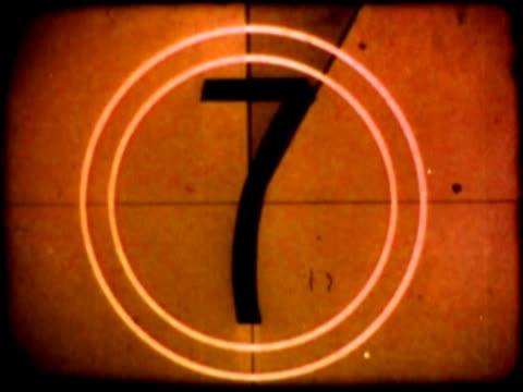 close-up of a countdown on a film leader - western script stock videos & royalty-free footage