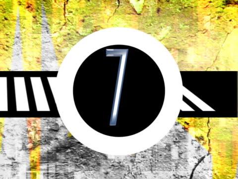 vidéos et rushes de close-up of a countdown - chiffre 9