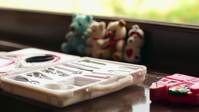 close-up of a doctor kit, delhi, india - first aid kit stock videos & royalty-free footage