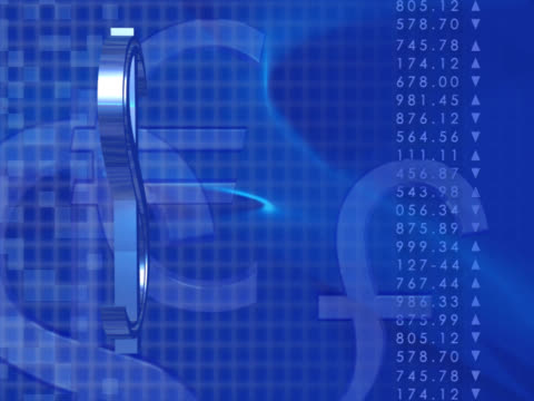vídeos y material grabado en eventos de stock de close-up of a dollar sign spinning - símbolo de la libra esterlina