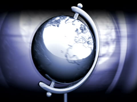 stockvideo's en b-roll-footage met close-up of a globe spinning - bureauglobe