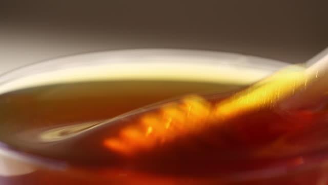 Close-up of a honey dipper