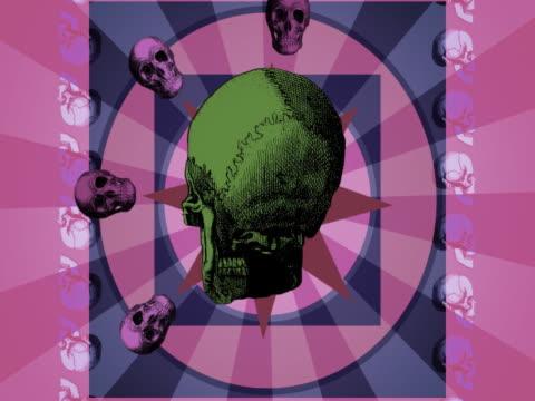 stockvideo's en b-roll-footage met close-up of a human skull in motion - biomedische illustratie