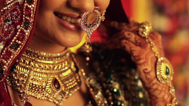 Close-up of a Indian bride