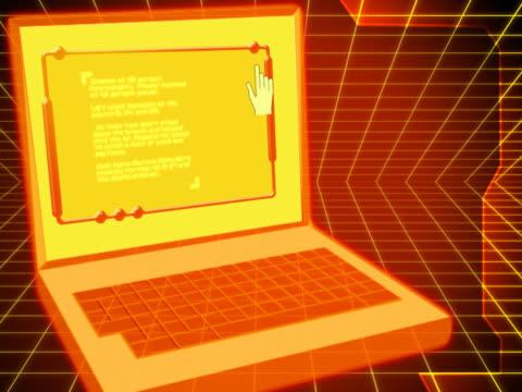 vídeos de stock e filmes b-roll de close-up of a laptop - ícone de seta