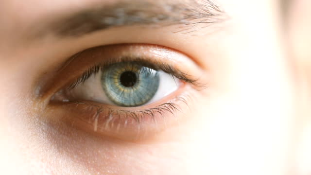 close-up of a male's eye - eye stock videos & royalty-free footage