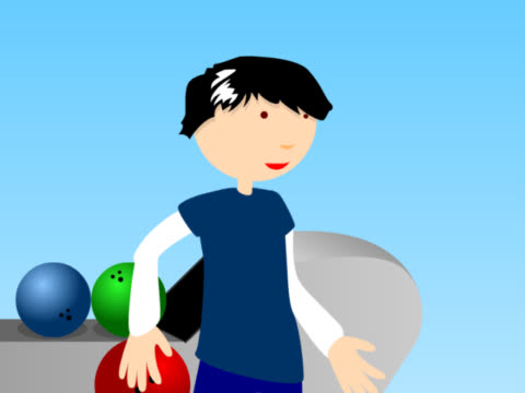 close-up of a man throwing a bowling ball - bowling ball stock videos & royalty-free footage