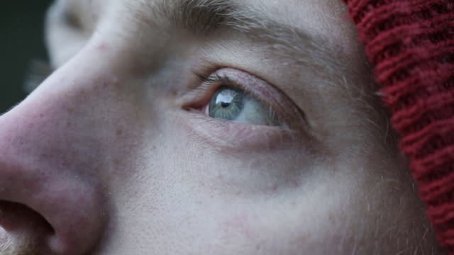 close-up of a man's eye - wilderness stock videos & royalty-free footage