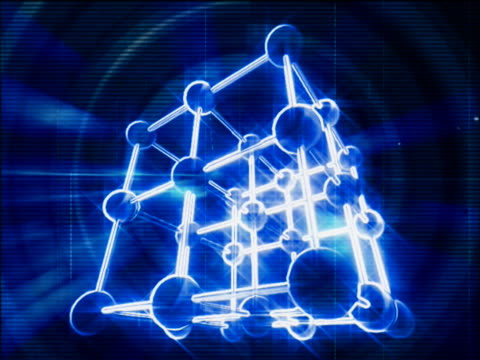 close-up of a molecular structure spinning - physiologie stock-videos und b-roll-filmmaterial