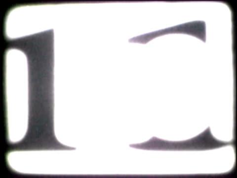 vídeos y material grabado en eventos de stock de close-up of a number countdown on a film leader - número 9