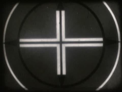 vídeos de stock e filmes b-roll de close-up of a number countdown on a film leader - super exposto