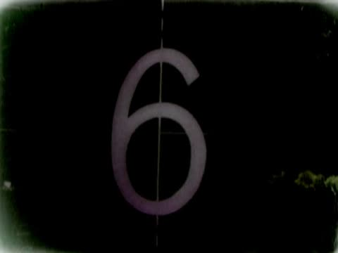 close-up of a number countdown on a film leader - western script stock videos & royalty-free footage