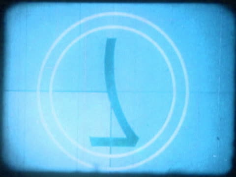 close-up of a number countdown on a film leader - vinjettering bildbanksvideor och videomaterial från bakom kulisserna