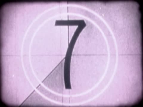 close-up of a number countdown on a film leader - zahl 4 stock-videos und b-roll-filmmaterial