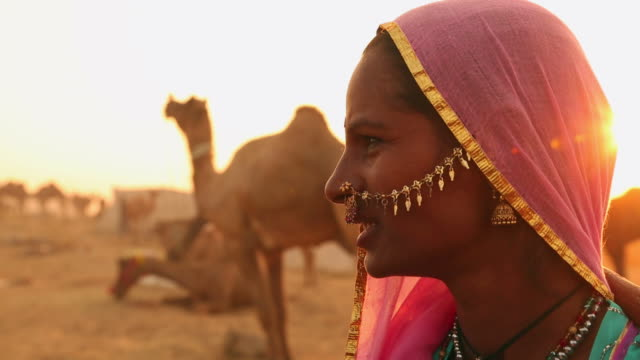 Close-up of a rajasthani woman, Rajasthan, India