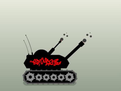 vídeos de stock, filmes e b-roll de close-up of a tank in motion - tanque