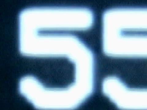 close-up of a timer on a screen - flüssigkristallanzeige stock-videos und b-roll-filmmaterial