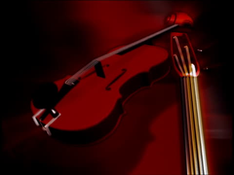 close-up of a violin and a guitar spinning - violin stock videos & royalty-free footage