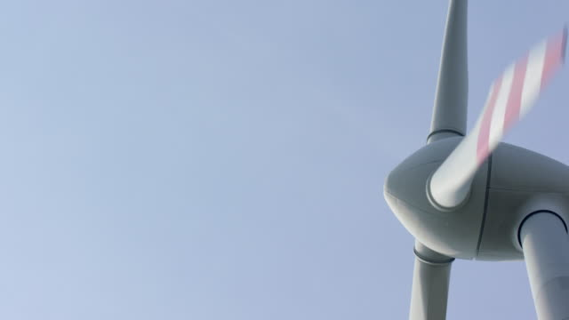 Close-Up of a wind mill (4K)