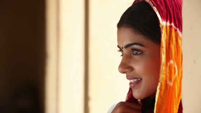 close-up of a woman, faridabad, haryana, india  - one mid adult woman only stock videos & royalty-free footage