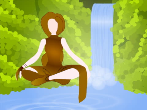 close-up of a woman sitting in a lotus position - lotus position stock videos & royalty-free footage