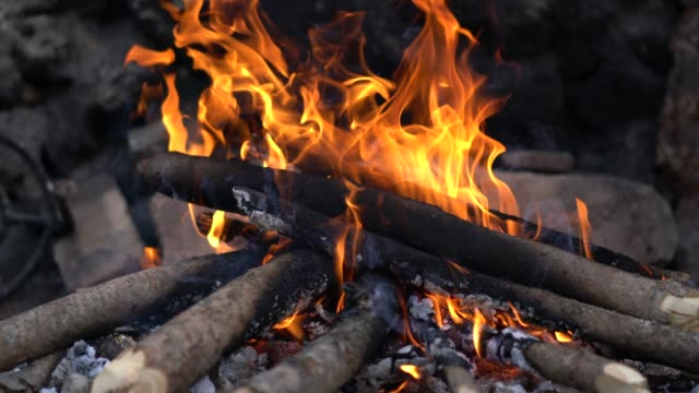 close-up of a wood fire burning - plank stock videos & royalty-free footage