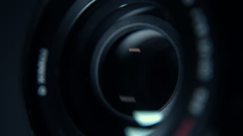 close-up of a working camera lens - film camera stock videos & royalty-free footage